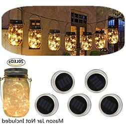 Solar powered Mason Jars Lights,Solar Fairy Lights Lids Fit