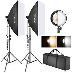 Neewer Studio Photo Bi-color Dimmable LED Softbox Lighting K