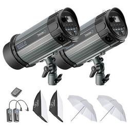Neewer 600W Studio Strobe Flash Photography Lighting Kit:300