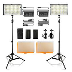2 in 1 Kit LED Video Lights Studio Photography Lighting + Ba