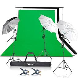 Emart 1500W Umbrella Continuous Lighting Kit with 7x10ft Bac