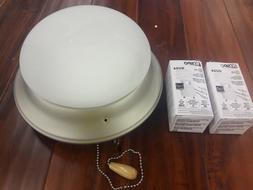 Universal Ceiling Fan 2 Light Kit & Pull Chain Brushed Nicke