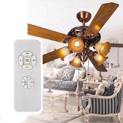 US Universal Ceiling Fan Lamp Light Timing Wireless Remote C